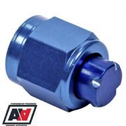 Aeroquip AN -6 JIC 6 Female Thread Blanking Cap Aluminium Anodised Blue